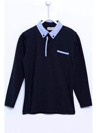 Silversun Kids Polo Yaka Cepli Uzun Kollu Örme Tişört Bk 310578 Antrasit